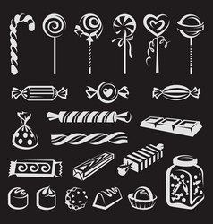 Various candies set vector