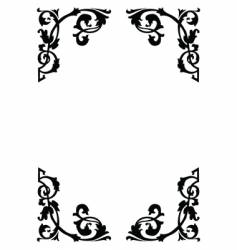 Victorian ornamental page borders vector