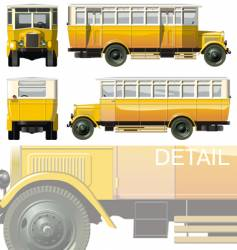 vintage city bus 30-s vector image