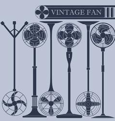 Vintage fan III vector