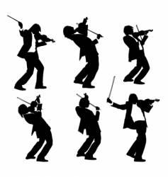 violinist vector image