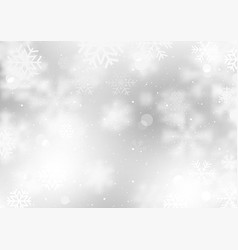 winter background with falling snowflakes vector image