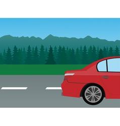 auto mountain vector image vector image