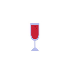 flat red wine glass icon vector image vector image