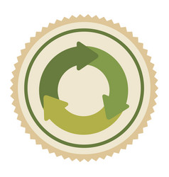 green emblem of cycle icon vector image vector image
