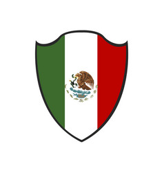 isolated mexican badge vector image vector image
