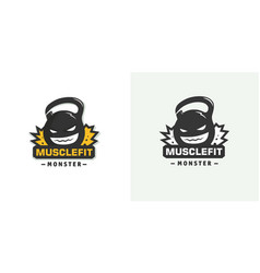 logo weights template vector image