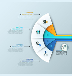 modern infographic design template 4 connected vector image vector image