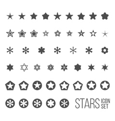 set of star icons and pictograms vector image
