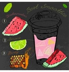 Watermelon lemon smoothie vector