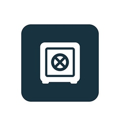bank safe icon Rounded squares button vector image vector image