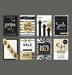 big set of social media sale website and mobile vector image vector image