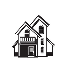 house black icon vector image vector image