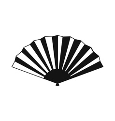 Japanese folding fan icon simple style vector image vector image