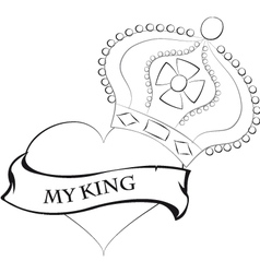 Love sketch vector image vector image