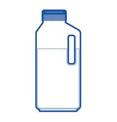 orange juice bottle in blue silhouette vector image vector image