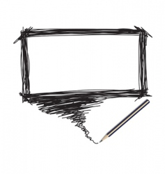 pencil scribble vector image