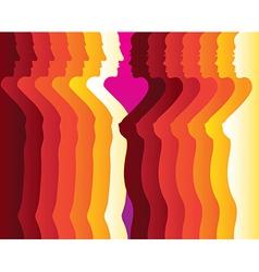 Abstract Men women silhouette vector image vector image