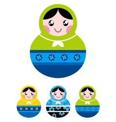russian doll serries vector image