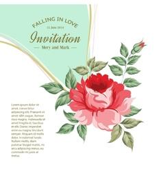 Spring flower for vintage card vector image vector image