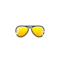 aviator sunglasses icon vector image