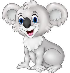 Cartoon funny koala sitting isolated vector