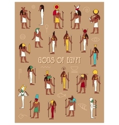 Gods of Egypt vector image