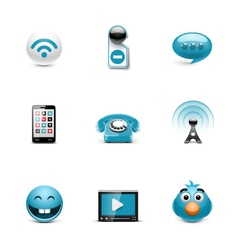 Internet web buttons vector image vector image