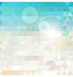 Sunny abstract geometric background vector image vector image