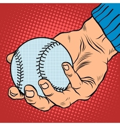 The hand with a baseball vector image