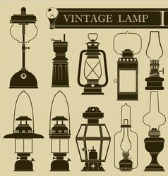 Vintage lamp I vector image vector image
