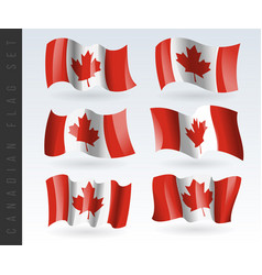 3d waving flag canada isolated on white vector image
