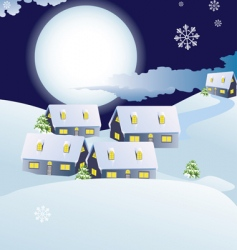 abstract Christmas town vector image