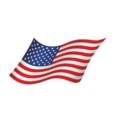 american waving flag vector image