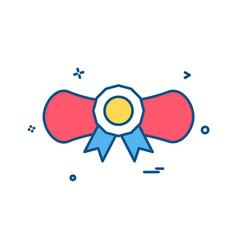 awward certificate icon design vector image