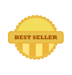 best seller gold vintage custom badge emblem vector image