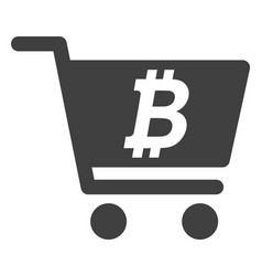 Bitcoin webshop flat icon symbol vector