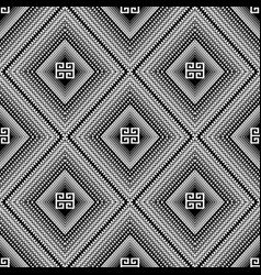 Black and white geometric greek pattern abstract vector