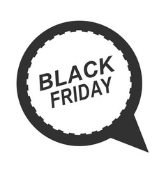 black friday speech bubble discount sign icon vector image