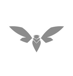 bug icon symbol insect moth cockroach sign templat vector image