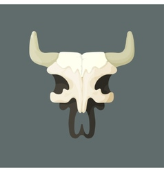 bull skull from Wild West vector image