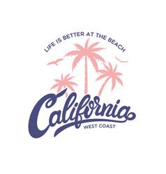 California stylish graphic t-shirt design vector