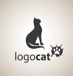 cat logo 3 vector image