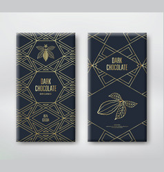 Chocolate or cocoa packaging vector
