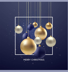 Christmas greeting card design of xmas black vector