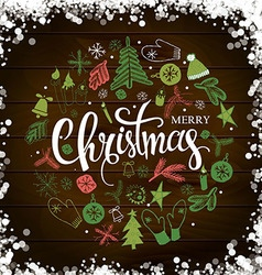 Christmas lettering vector image