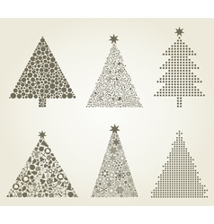 Collection Christmas tree vector image