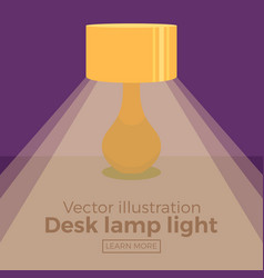 colorful bedside lamp light icon vector image