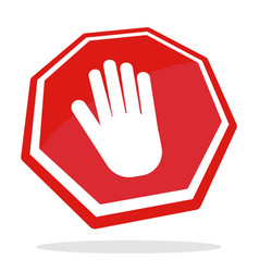 conceptual traffic sign stop vector image