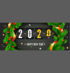 counting last moments before christmas or new year vector image